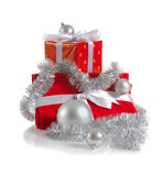 Christmas red gifts Royalty Free Stock Image