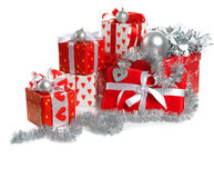 Christmas red gifts Stock Photo