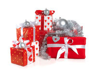 Christmas red gifts Royalty Free Stock Photos