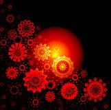 Christmas red glow background royalty free stock images