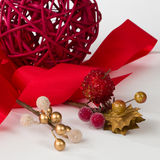 Christmas Red and Gold Royalty Free Stock Photos