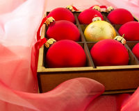 Christmas red and gold balls Stock Photo