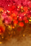 Christmas red and gold lights background Royalty Free Stock Images