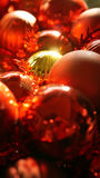Christmas red and gold ornament background with beautiful sun li Royalty Free Stock Image