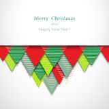 Christmas-red-green-background. Vector Christmas background.Оrigami New Year card. Vector Merry Christmas background. Vector happy holiday card Royalty Free Illustration