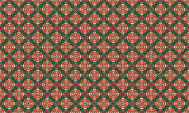 Christmas Red and Green Geometric Seamless. Patterns. Backgrounds in Diamond Stock Photo