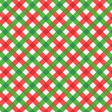 Christmas red and green gingham fabric, seamless pattern included Stock Images