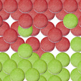 Christmas red green macaroon Royalty Free Stock Photo