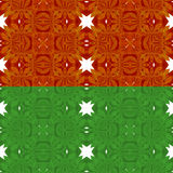 Christmas red and green  seamless pattern of bows Stock Photography