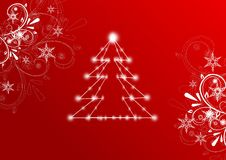 Christmas red greeting card Royalty Free Stock Photography