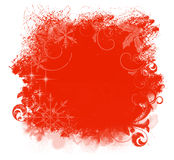 Christmas Red Grunge Background Stock Photo
