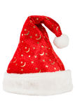 Christmas red hat with white fur Stock Images