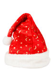 Christmas red hat with white fur Royalty Free Stock Images
