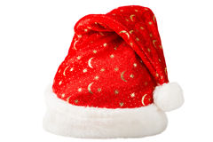 Christmas red hat with white fur Royalty Free Stock Image