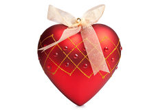 Christmas red heart Royalty Free Stock Images