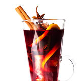 Christmas Red Hot Mulled Wine And Spices Close Up. Selective Fo Stock Photos