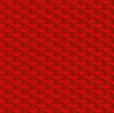 Christmas Red Isometric Seamless Pattern. 3D Optical Illusion  Stock Images