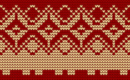 Christmas red knitted background Stock Images