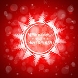 Christmas red light vector background. Card or invitation. Royalty Free Stock Image