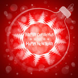 Christmas red light vector background. Card or invitation. Royalty Free Stock Photography