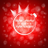 Christmas red light vector background. Card or invitation. Stock Images