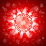 Christmas red light vector background. Card or invitation. Royalty Free Stock Images