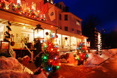 Christmas at the Red Lion Inn,. Stockbridge, Massachusetts, Home of Illustrator Norman Rockwell stock photos