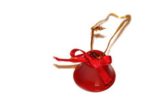 Christmas red little handbell. On white Stock Image