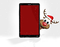 Christmas Red Mobile Phone Royalty Free Stock Photo