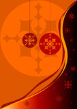 Christmas red and orange background Royalty Free Stock Image
