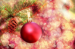 Christmas red ornament Stock Photography