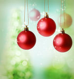 Christmas red ornaments Stock Image