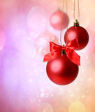 Christmas red ornaments Stock Photos