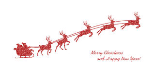 Christmas red reindeer Royalty Free Stock Images