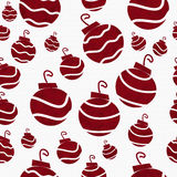 Christmas Red Retro Ornament Fabric Background Stock Photo