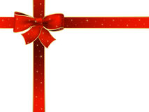 Christmas red ribbon Stock Photography
