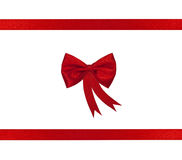 Christmas red ribbon and bow Royalty Free Stock Images