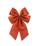 Christmas red ribbon  bow Stock Images