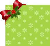 Christmas Red ribbon on green Stock Photography