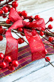 Christmas Red ribbon Royalty Free Stock Photography