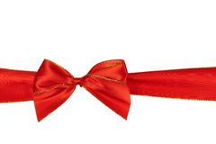 Christmas red  ribbon,isolated on white Royalty Free Stock Photo