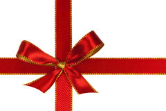 christmas red  ribbon,isolated on white Royalty Free Stock Photography
