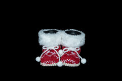 Christmas - Red Santa Boots Decoration Royalty Free Stock Photography