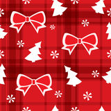 Christmas red seamless pattern Royalty Free Stock Photos