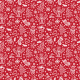 Christmas Red Seamless Pattern. Vector Royalty Free Stock Photography
