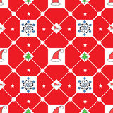 Christmas red seamless pattern Royalty Free Stock Photo