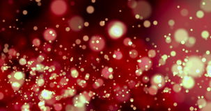Christmas red sparkle background with bokeh, xmas holiday valentine day event festive symbol stock video footage