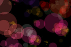 Christmas red sparkle background with colorful bokeh, xmas holiday happy new year Stock Images