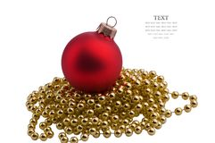 Christmas red sphere Royalty Free Stock Photo