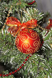 Christmas red sphere, ball Royalty Free Stock Photography